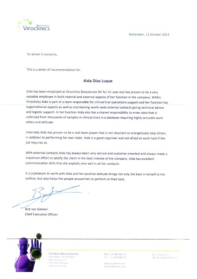 Viroclinics letter