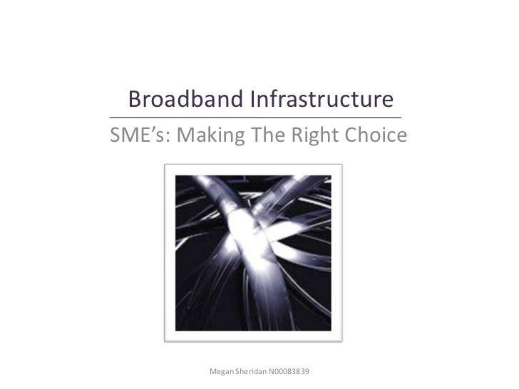 Broadband InfrastructureSME's: Making The Right Choice          Megan Sheridan N00083839