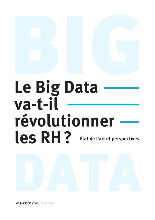 data BigLe Big Data va-t-il révolutionner les RH? État de l'art et perspectives