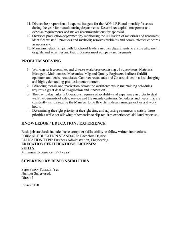 Value Stream Manager Job Description_8 12 09