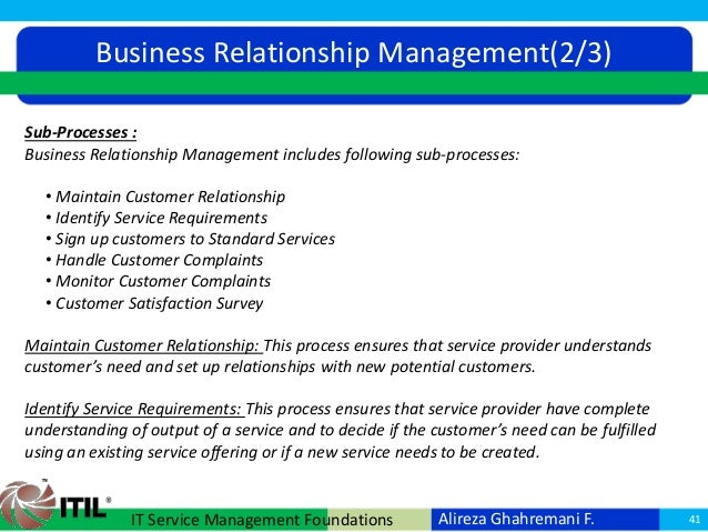 itil and customer relationship management