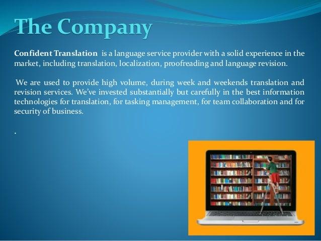 Confident Translation Profile Slide 2