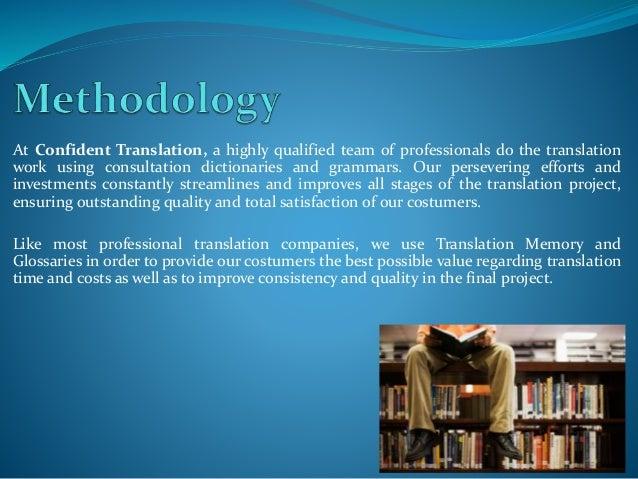Confident Translation Profile Slide 3