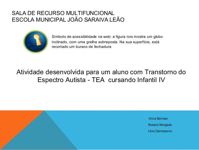 SALA DE RECURSO MULTIFUNCIONAL ESCOLA MUNICIPAL JOÃO SARAIVA LEÃO Símbolo de acessibilidade na web: a figura nos mostra um...