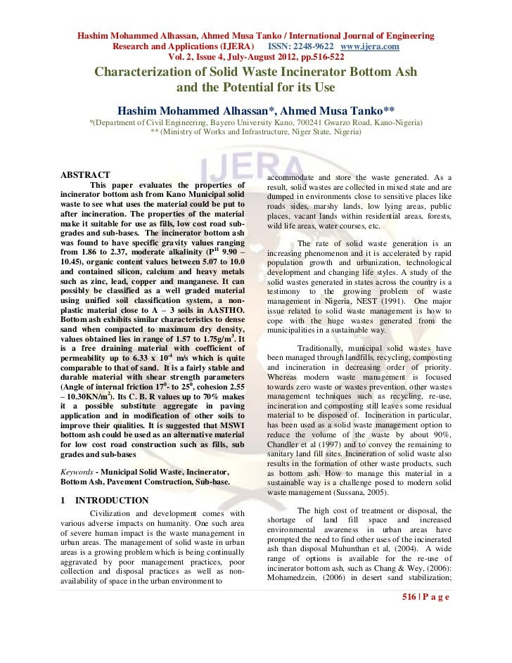 Hashim Mohammed Alhassan, Ahmed Musa Tanko / International Journal of Engineering            Research and Applications (IJ...