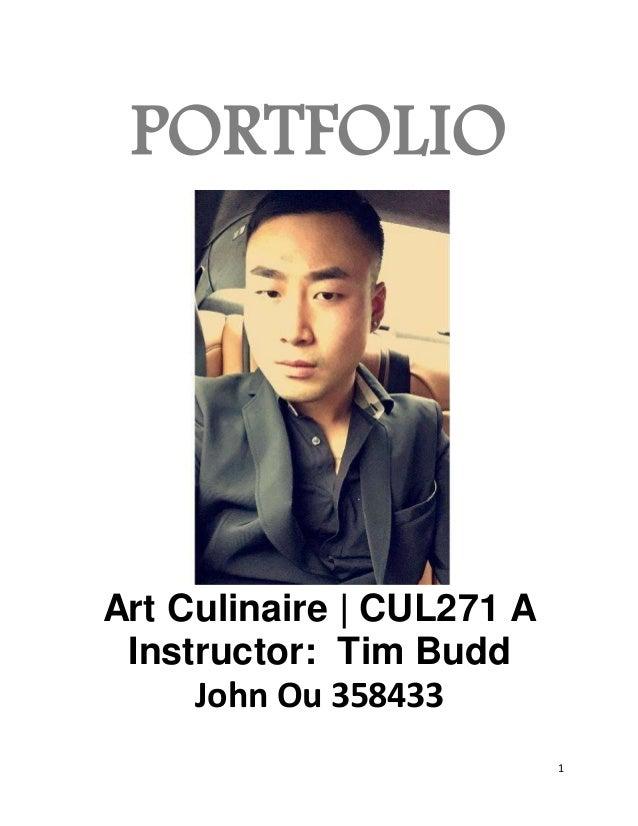 Art culinaire portfolio for Culinaire