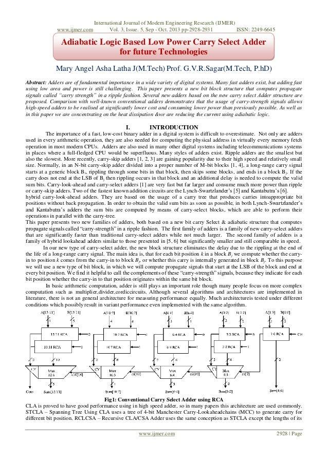 www.ijmer.com  International Journal of Modern Engineering Research (IJMER) Vol. 3, Issue. 5, Sep - Oct. 2013 pp-2928-2931...