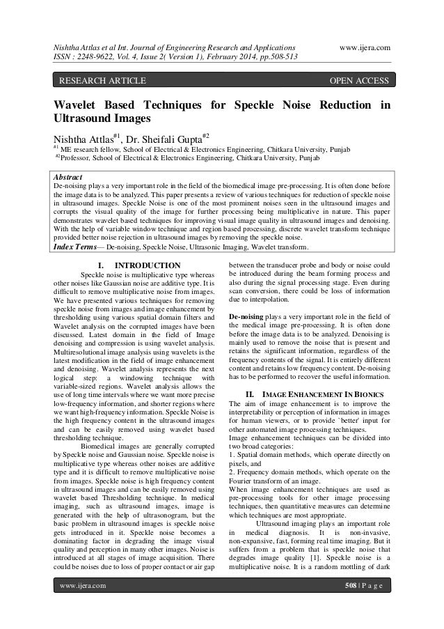 Nishtha Attlas et al Int. Journal of Engineering Research and Applications ISSN : 2248-9622, Vol. 4, Issue 2( Version 1), ...