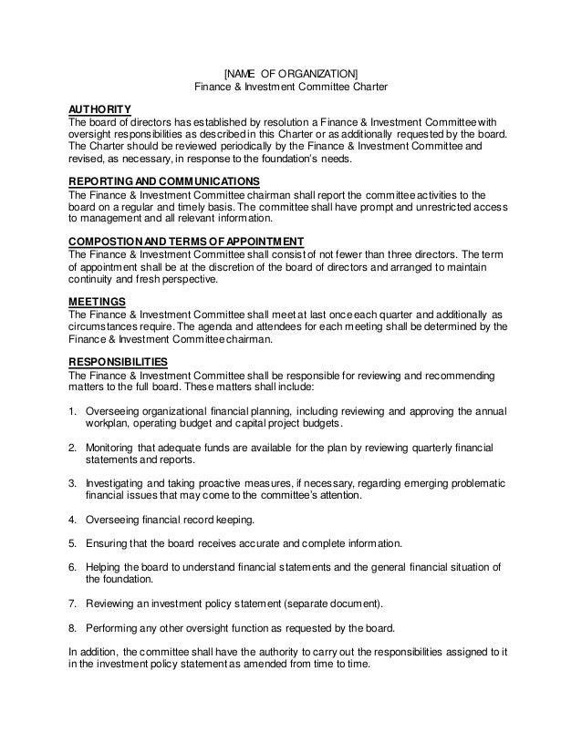 F&I Com Charter-Template