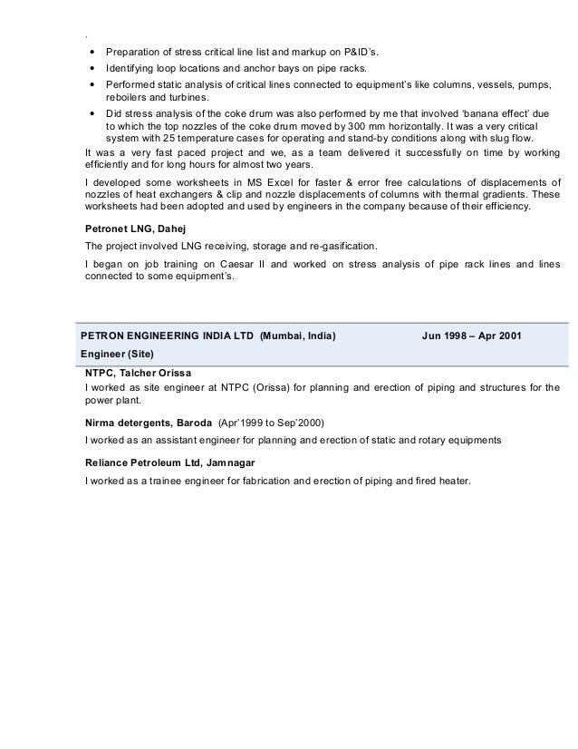 Resume - Tarun Sharma - Pipe stress engineer