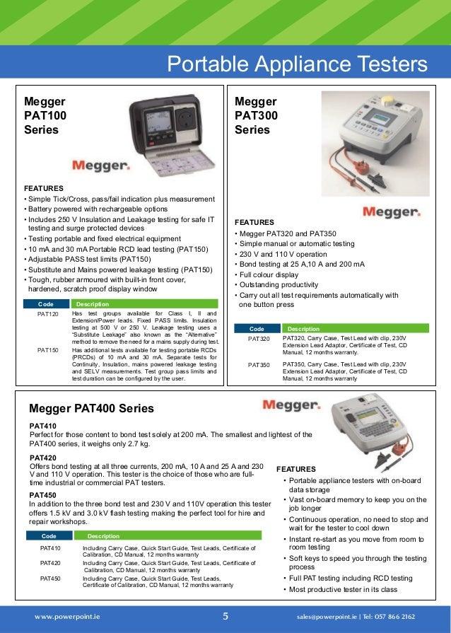 Megger Mft1720 Instructions Images Form 1040 Instructions
