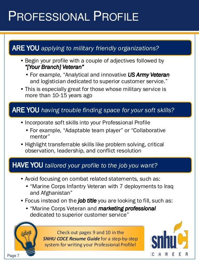 infantry marine resume