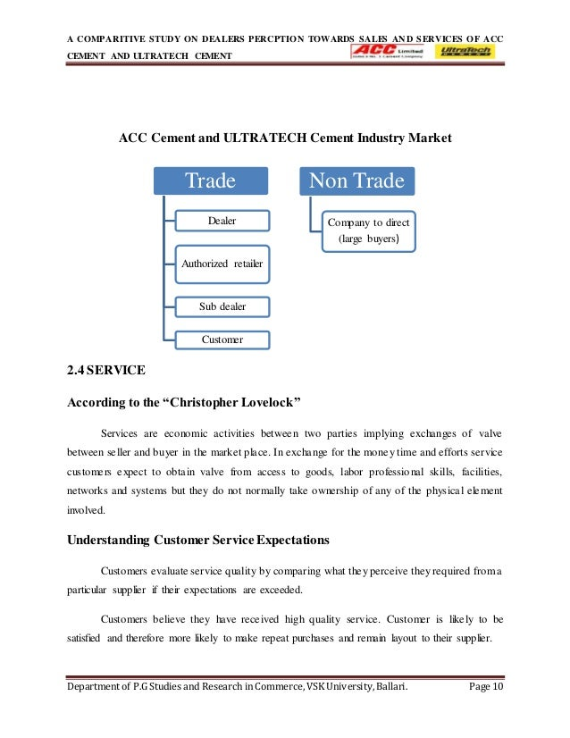 Ultratech Cement Market : Dealers percption towards sales and services copy