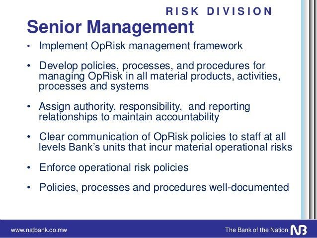 operational risk management framework pdf