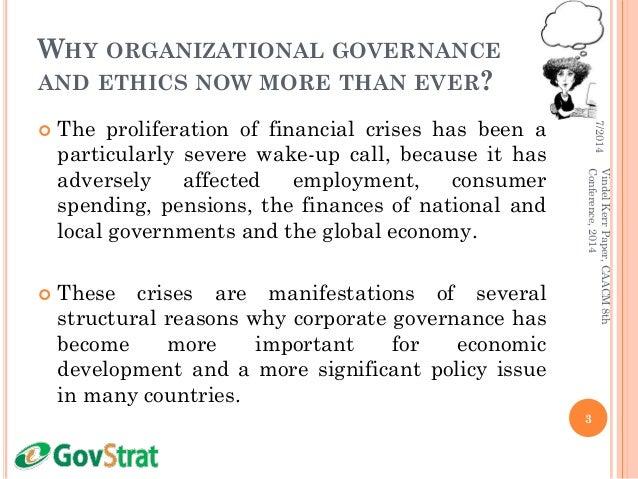 Improving Organisational Governance and Ethics