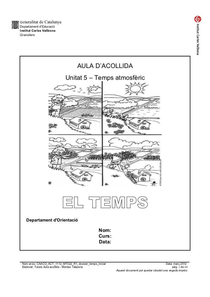 Generalitat de CatalunyaDepartament d'EducacióInstitut Carles VallbonaGranollers                                     AULA ...