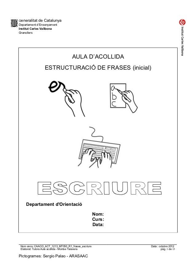 Generalitat de CatalunyaDepartament d'EnsenyamentInstitut Carles VallbonaGranollers                                     AU...