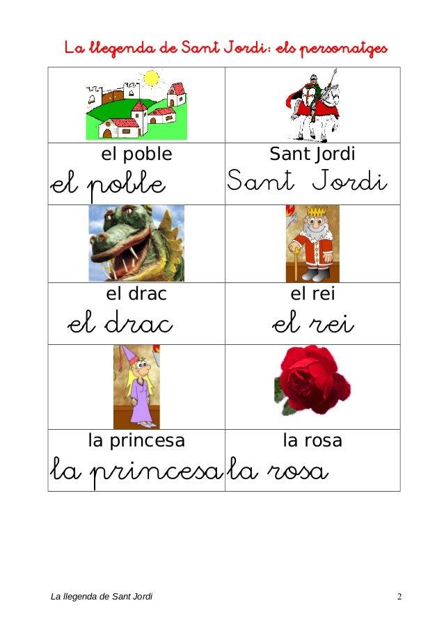 La llegenda de Sant Jordi: els personatges el poble el poble Sant Jordi Sant Jordi el drac el drac el rei el rei la prince...