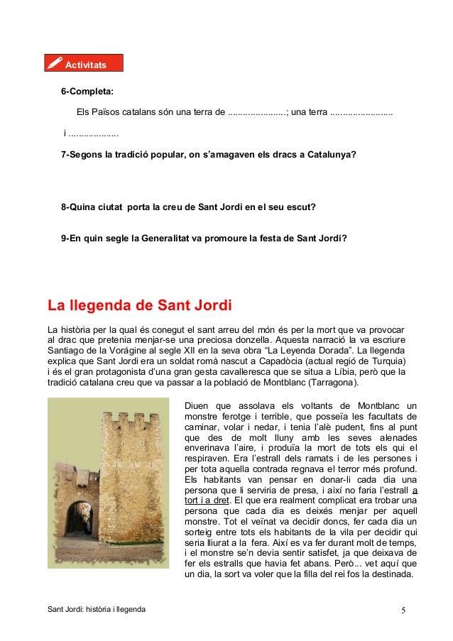! Activitats 6-Completa: Els Països catalans són una terra de .......................; una terra ............................