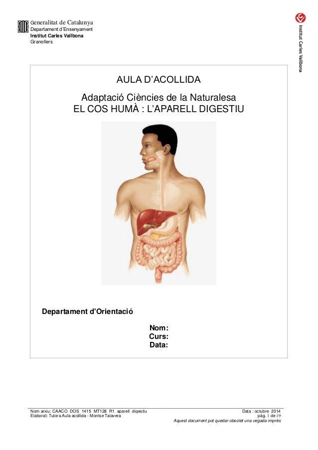 Generalitat de Catalunya  Departament d'Ensenyament  Institut Carles Vallbona  Granollers  Nom arxiu: CAACO_DOS_1415_MT128...