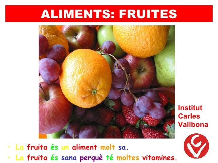 ALIMENTS: FRUITES                                                  Institut                                               ...