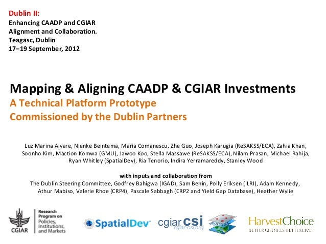 Dublin II:Enhancing CAADP and CGIARAlignment and Collaboration.Teagasc, Dublin17–19 September, 2012Mapping & Aligning CAAD...