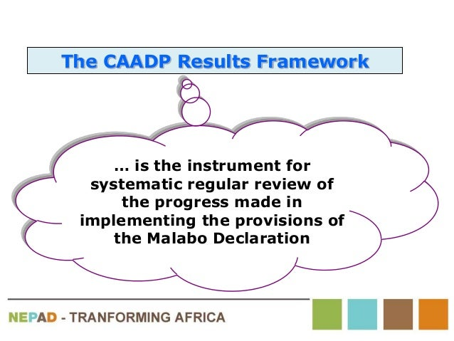… is the instrument for systematic regular review of the progress made in implementing the provisions of the Malabo Declar...