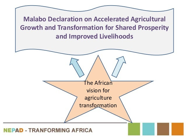 Malabo Declaration on Accelerated Agricultural Growth and Transformation for Shared Prosperity and Improved Livelihoods Th...