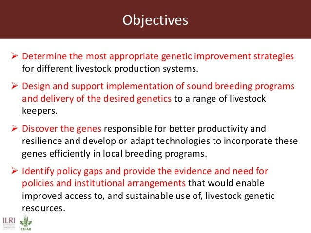 ILRI's Livestock Genetics Program - LiveGene Slide 3