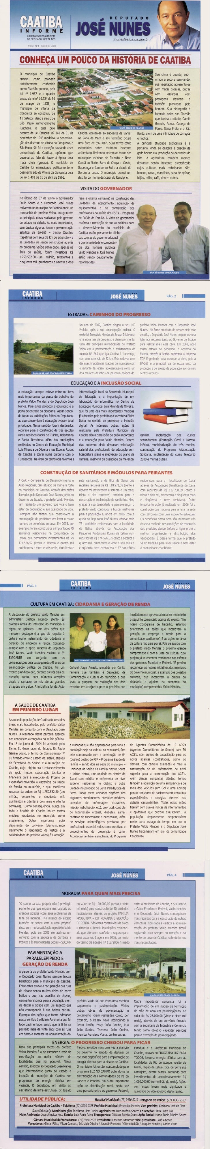 Boletim Informativo do município de Caatiba