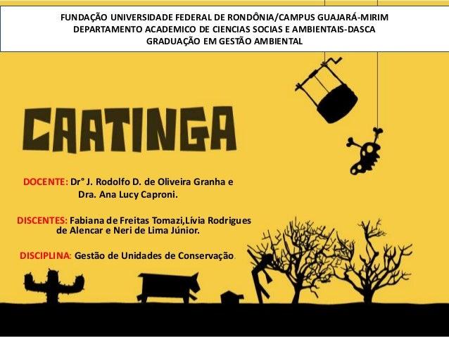 FUNDAÇÃO UNIVERSIDADE FEDERAL DE RONDÔNIA/CAMPUS GUAJARÁ-MIRIM DEPARTAMENTO ACADEMICO DE CIENCIAS SOCIAS E AMBIENTAIS-DASC...