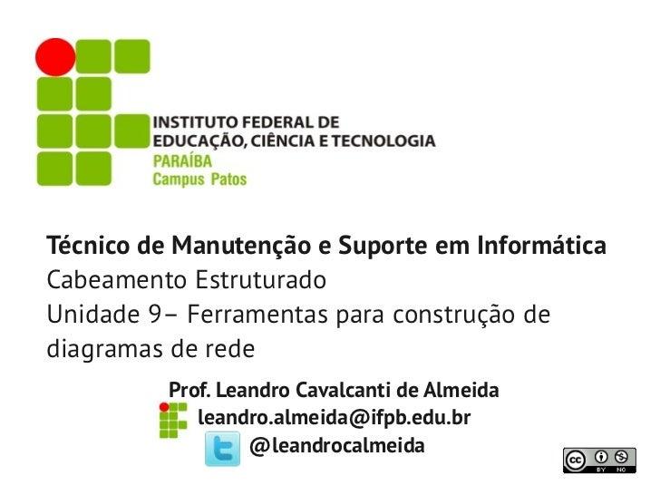 Técnico de Manutenção e Suporte em InformáticaCabeamento EstruturadoUnidade 9– Ferramentas para construção dediagramas de ...