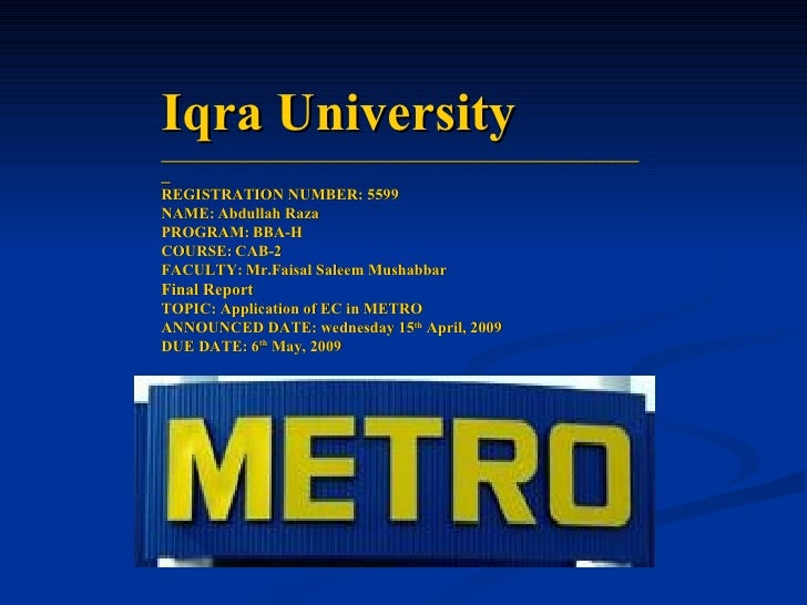 Iqra University ______________________________________________________ REGISTRATION NUMBER: 5599 NAME:   Abdullah Raza  PR...