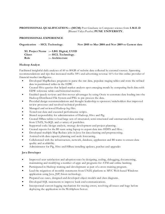 big data resume - Elita.mydearest.co