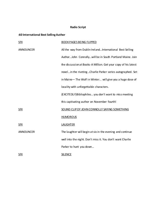 radio psa script assignment This was a school assignment for special olympics manitoba.