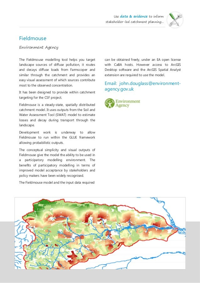 Best practice showcase for the Catchment-Based Approach
