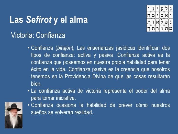 Las Sefirot y el almaVictoria: Confianza     • Confianza (bitajón), Las enseñanzas jasídicas identifican dos       tipos d...