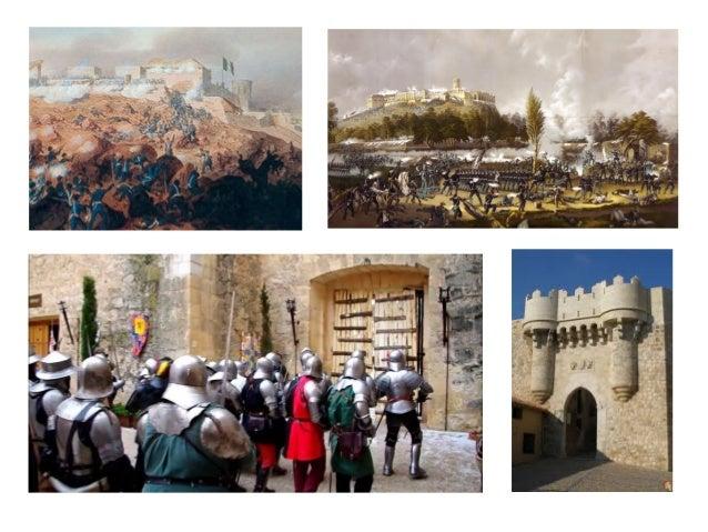 Partes de un castillo • En un castillo medieval se diferencian varias partes: • Dentro de la fortaleza, en el centro se ub...