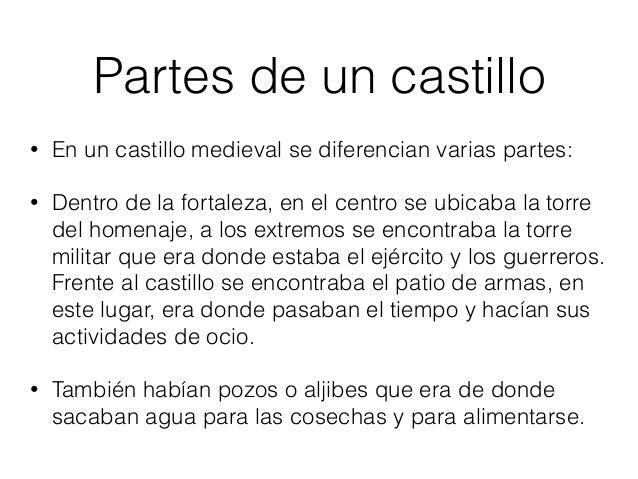 Quien vivía en los castillos • En los castillos solía vivir el rey y sus caballeros y en la zona civil vivían las familias...