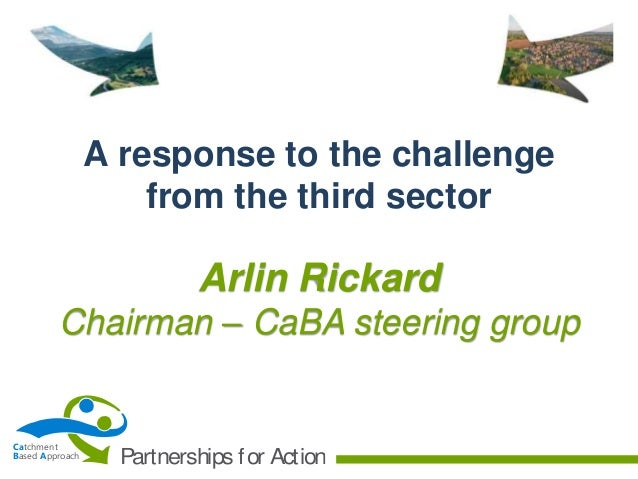 A response to the challenge from the third sector  Arlin Rickard Chairman – CaBA steering group  Catchment Based Approach ...