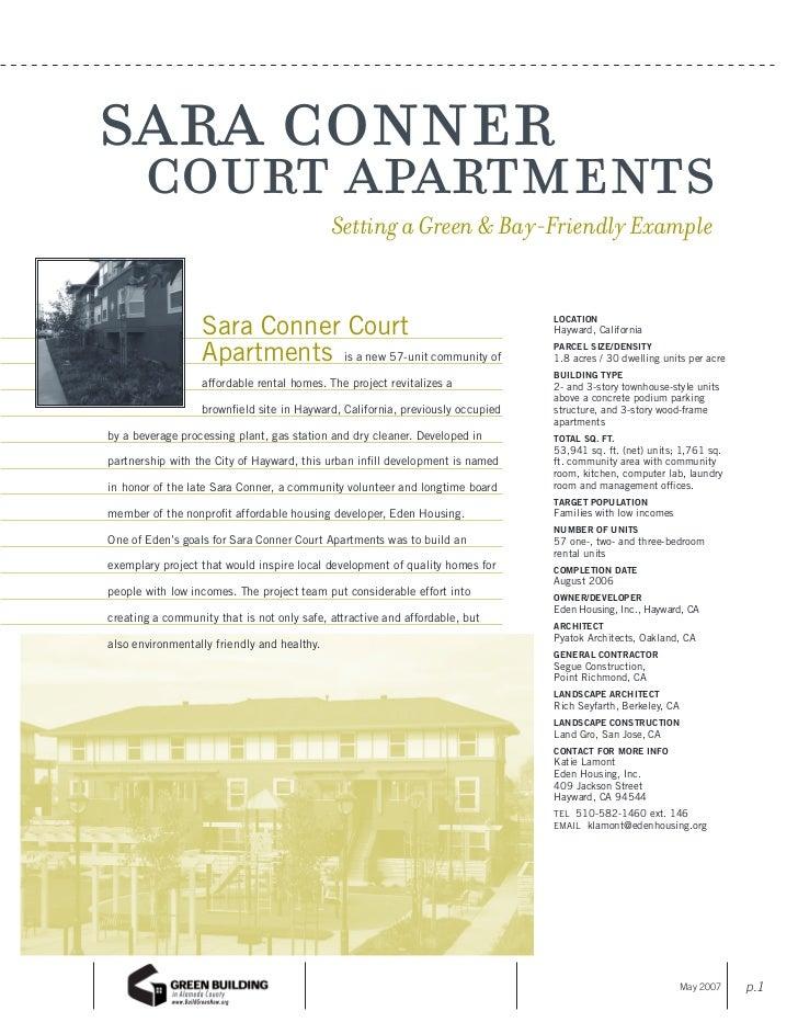 sara conner court apartments                            Setting a Green & Bay-Friendly Example                  Sara Conne...