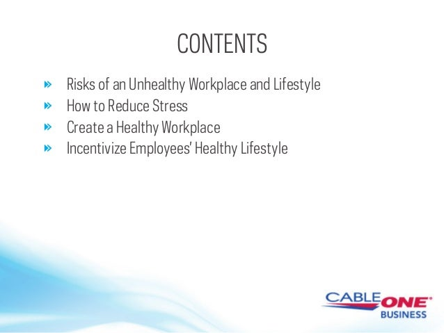 Creating A Healthy Workplace by Cable ONE Business