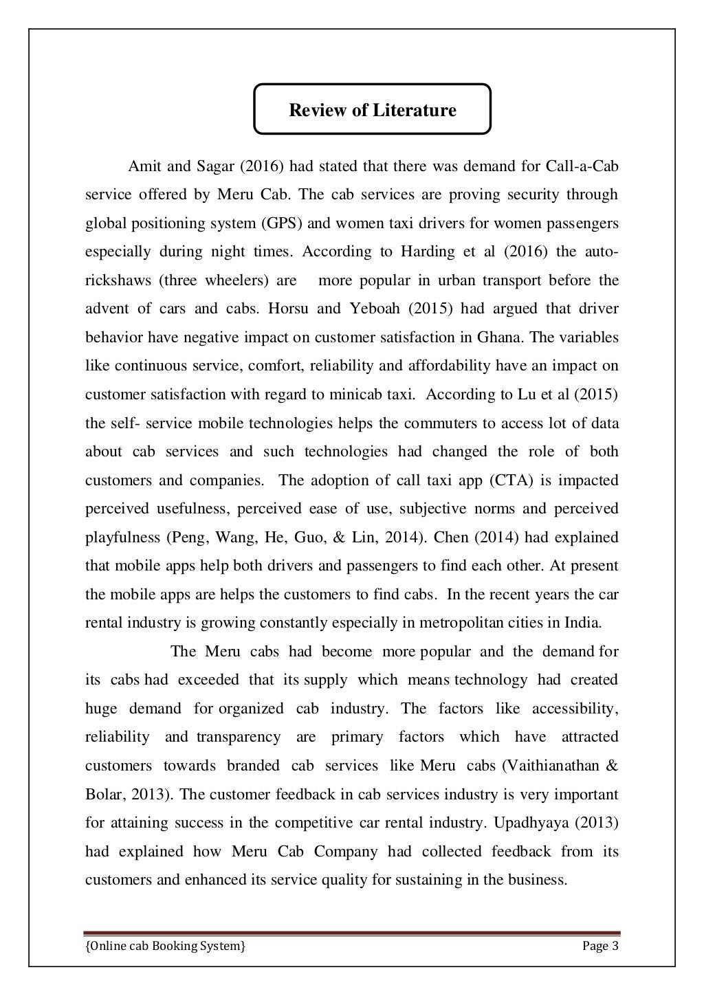Online Cab Booking System Final Report page 10