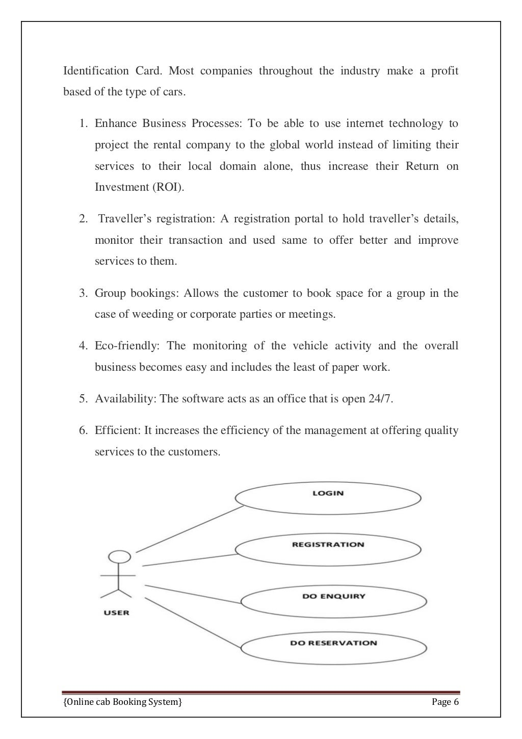Online Cab Booking System Final Report page 13