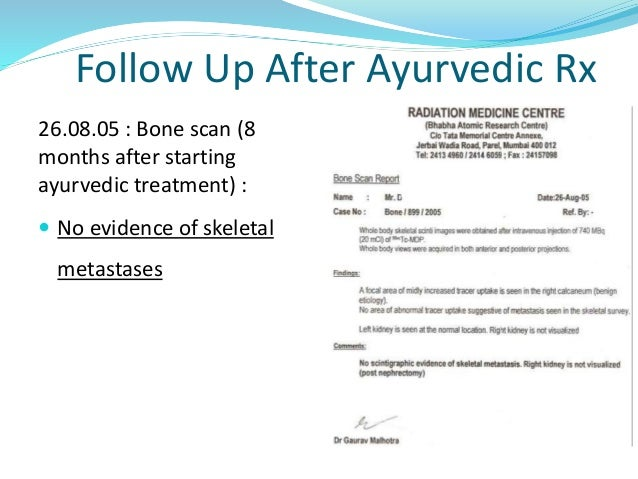 Treatment of Cancer in Ayurveda