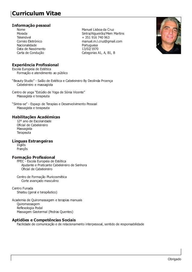 Curriculum Vitae Portugal