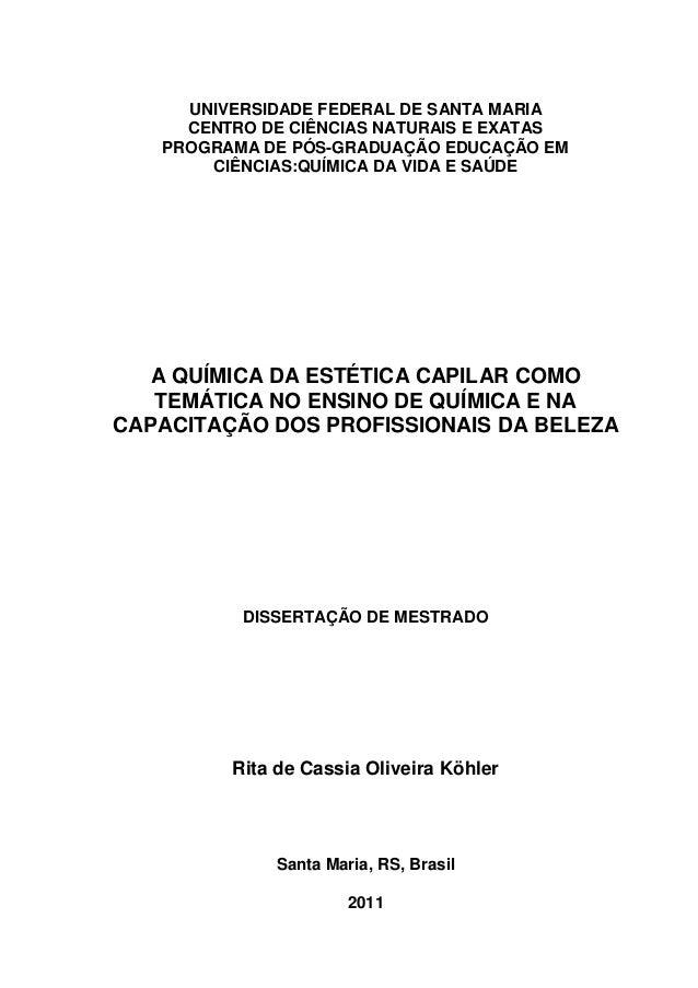 UNIVERSIDADE FEDERAL DE SANTA MARIA     CENTRO DE CIÊNCIAS NATURAIS E EXATAS   PROGRAMA DE PÓS-GRADUAÇÃO EDUCAÇÃO EM      ...