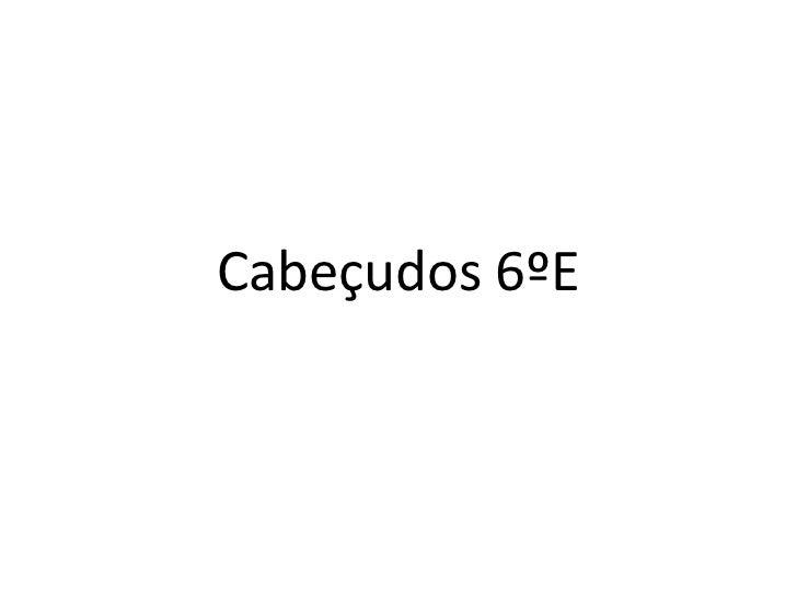 Cabeçudos 6ºE<br />