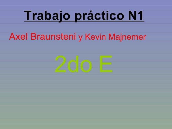 Trabajo práctico N1 Axel Braunsteni  y Kevin Majnemer 2do E