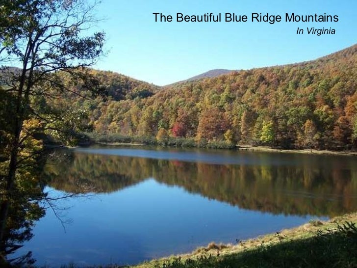 The Beautiful Blue Ridge Mountains In Virginia